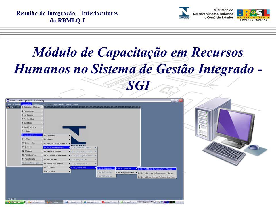 Módulo de Capacitação em Recursos Humanos no Sistema de Gestão Integrado - SGI
