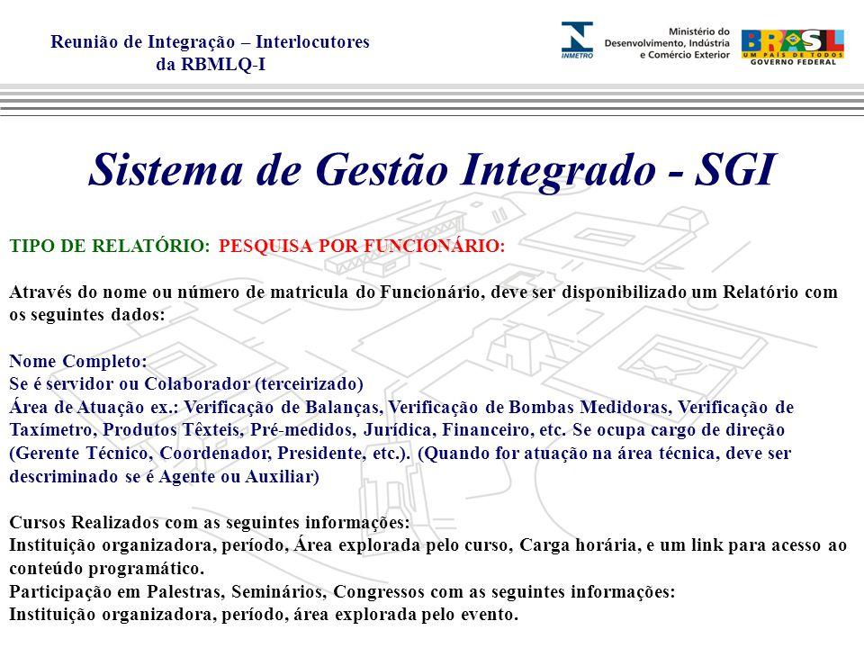 Sistema de Gestão Integrado - SGI