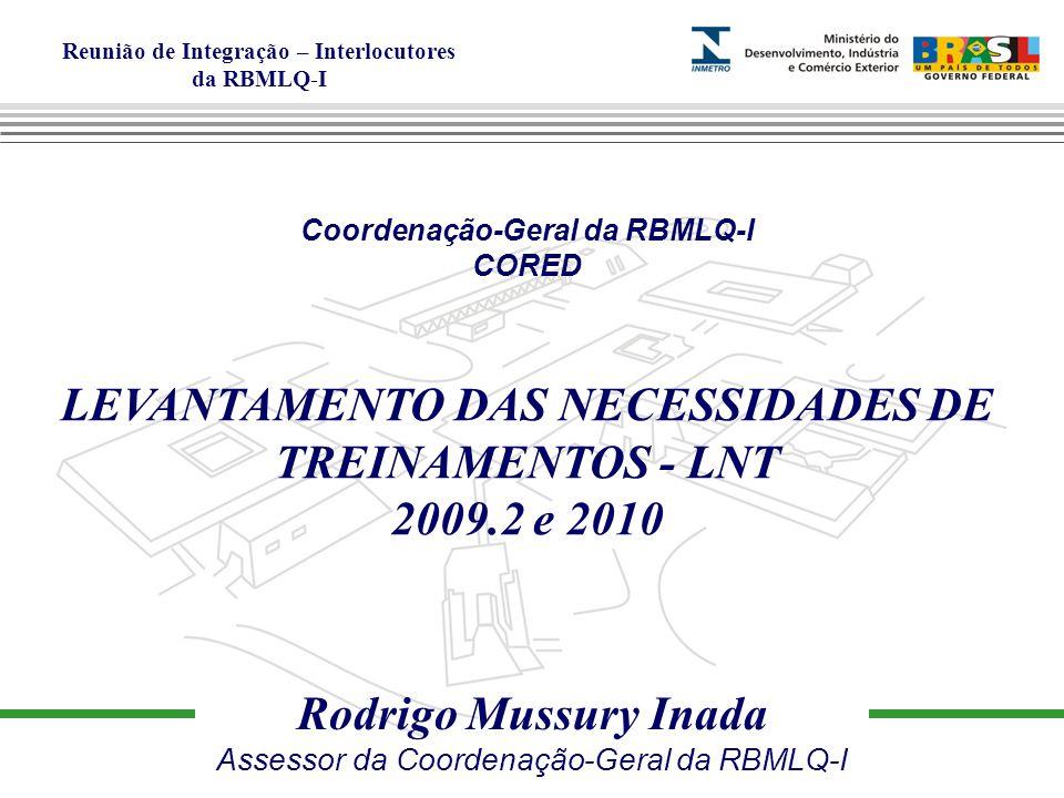 LEVANTAMENTO DAS NECESSIDADES DE TREINAMENTOS - LNT 2009.2 e 2010