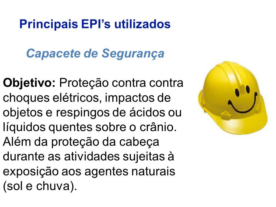 Principais EPI's utilizados