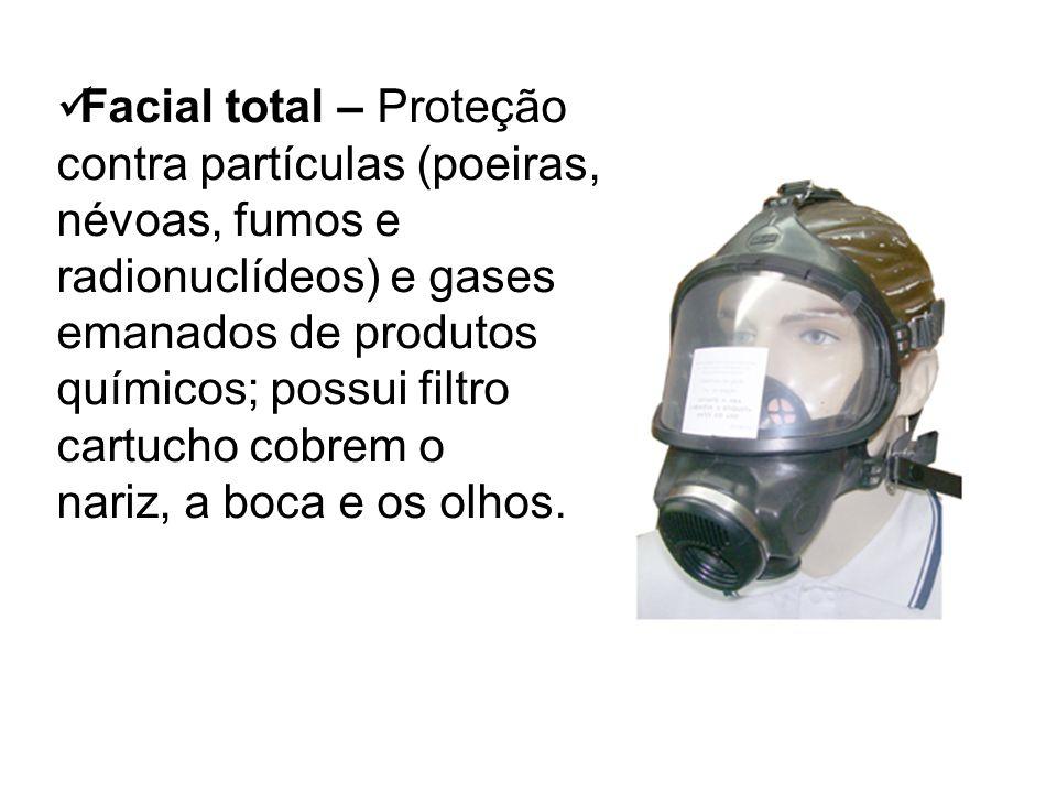 Facial total – Proteção contra partículas (poeiras, névoas, fumos e radionuclídeos) e gases