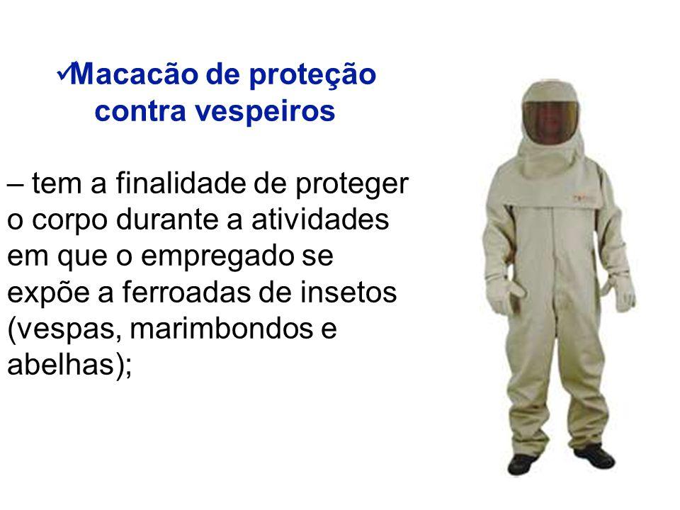 Macacão de proteção contra vespeiros