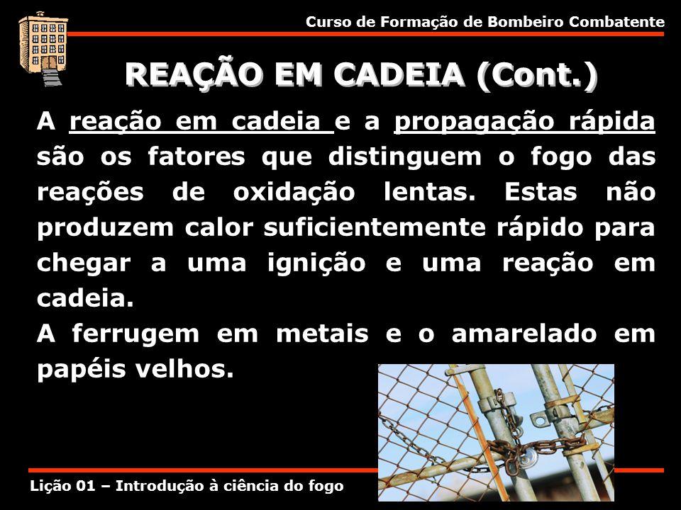 REAÇÃO EM CADEIA (Cont.)