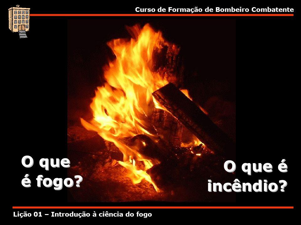 O que é fogo O que é incêndio