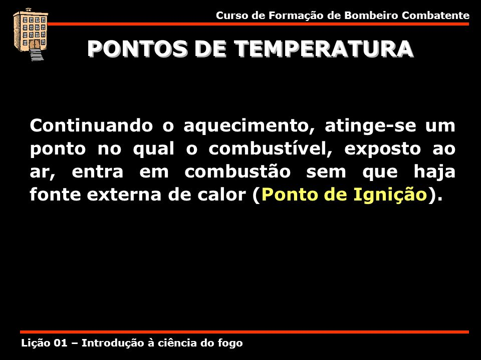 PONTOS DE TEMPERATURA