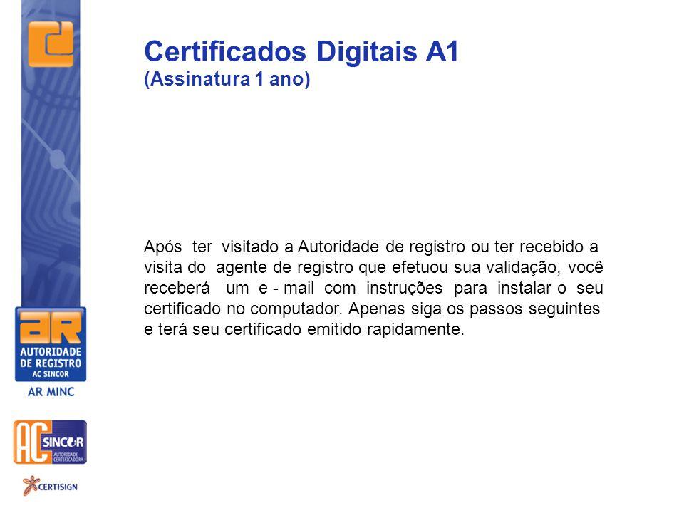 Certificados Digitais A1