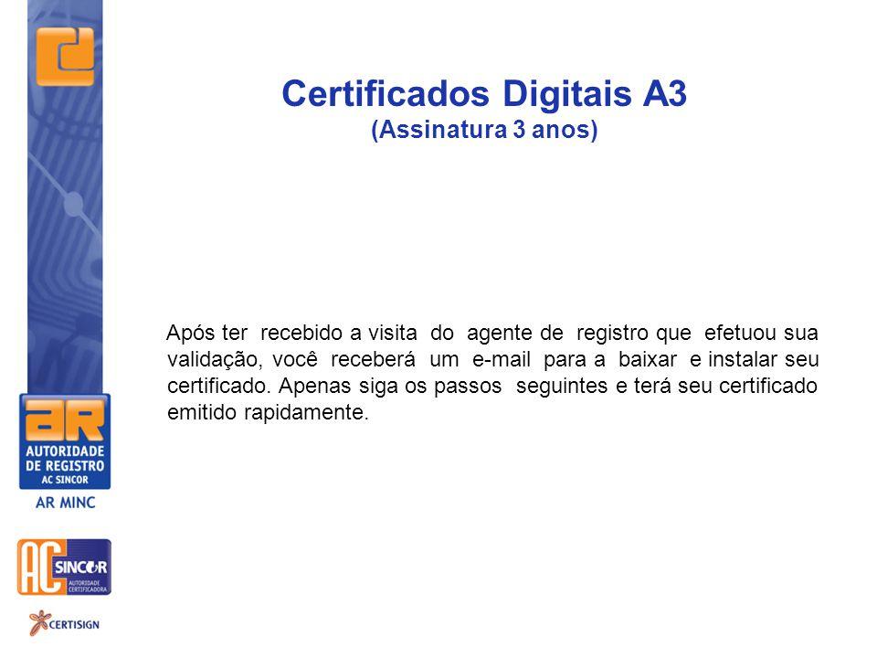 Certificados Digitais A3