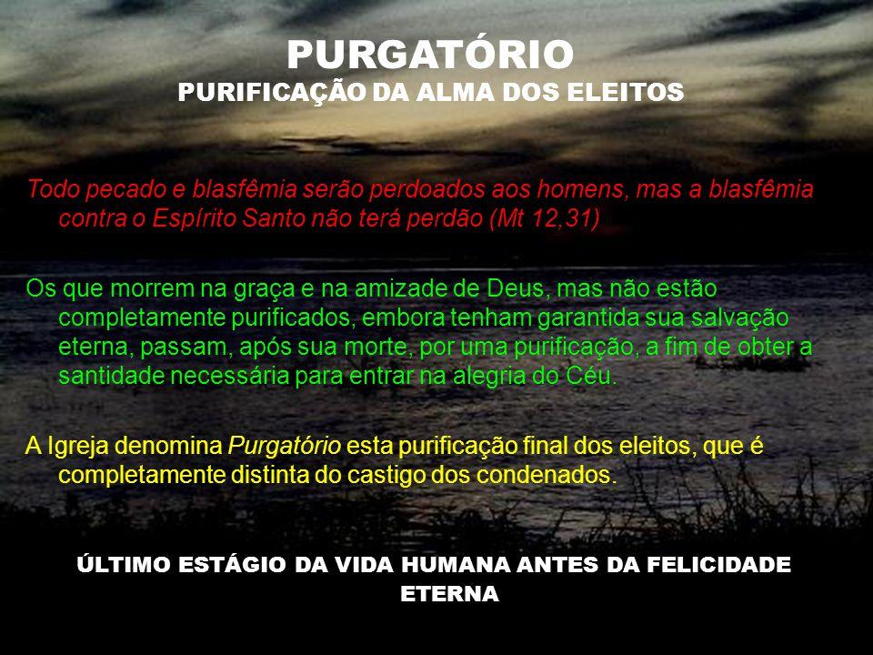 PURGATÓRIO PURIFICAÇÃO DA ALMA DOS ELEITOS
