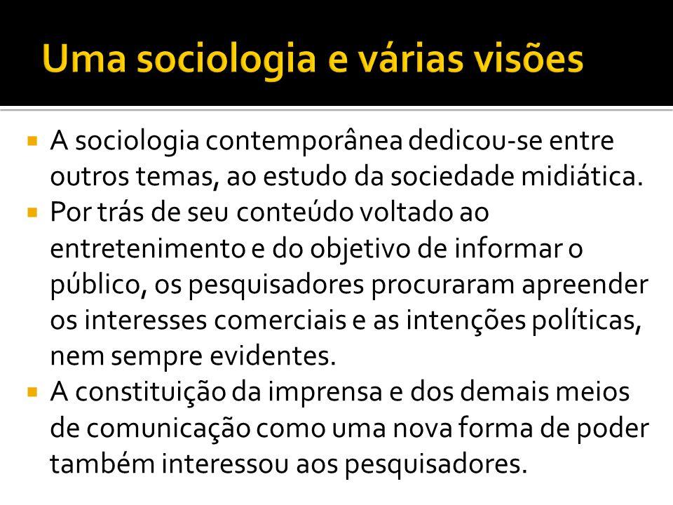 Uma sociologia e várias visões