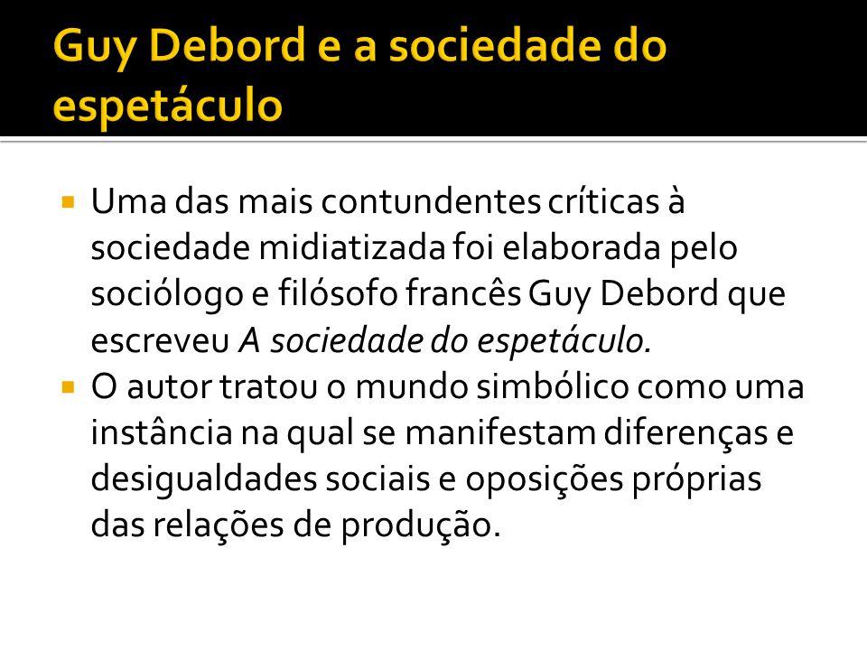 Guy Debord e a sociedade do espetáculo