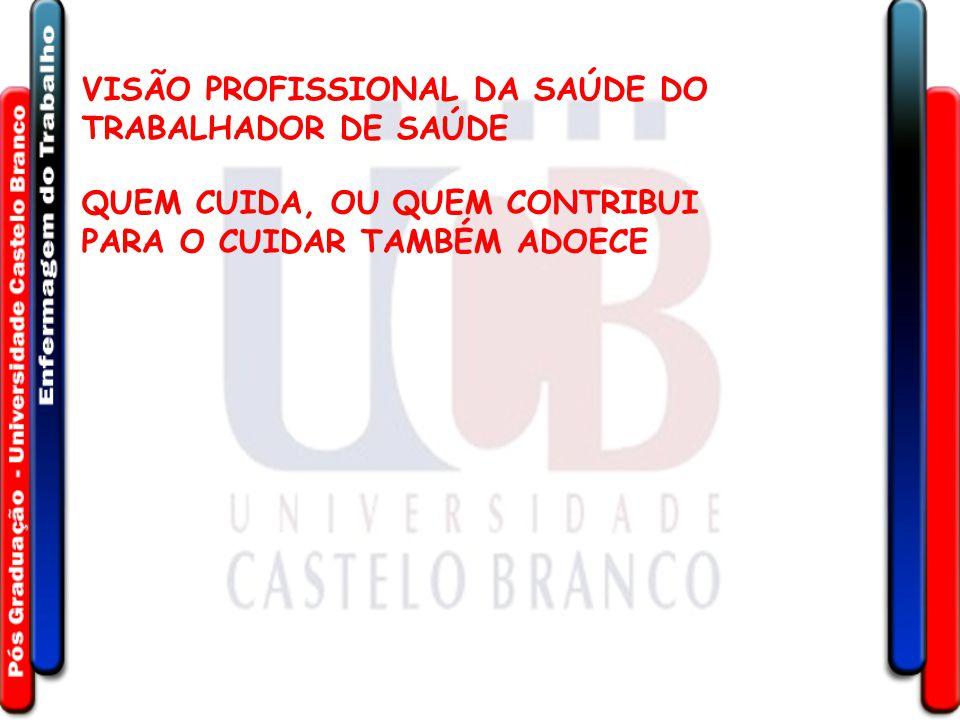 VISÃO PROFISSIONAL DA SAÚDE DO TRABALHADOR DE SAÚDE