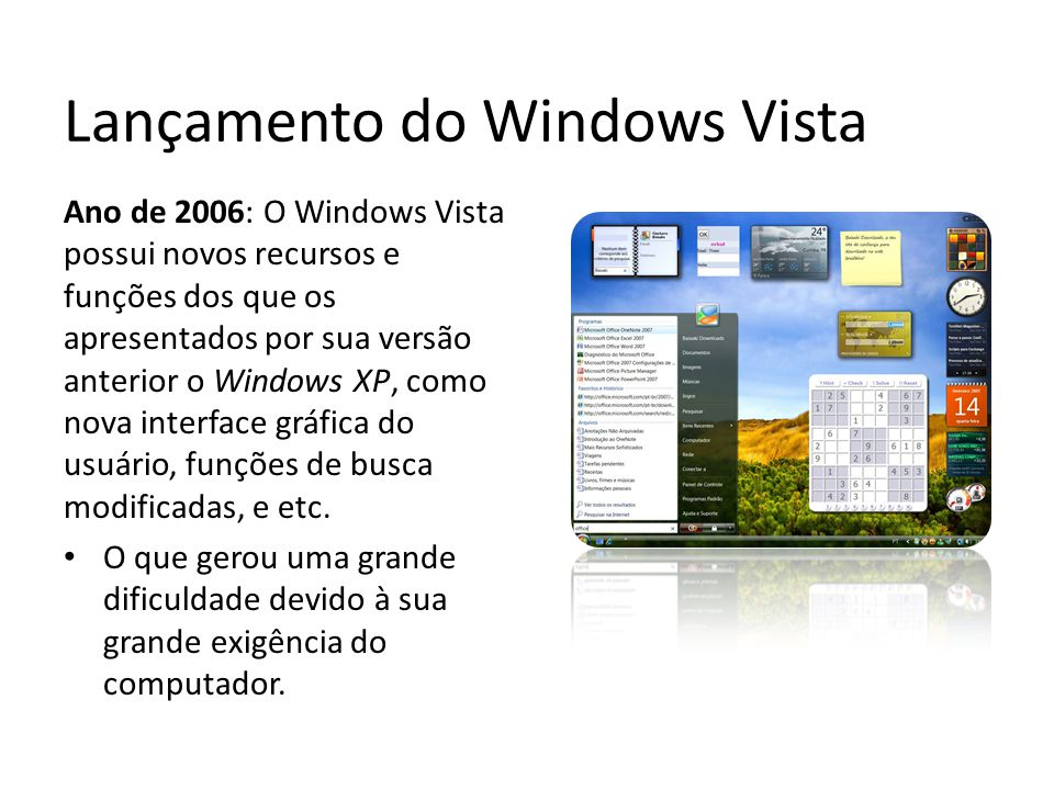 Lançamento do Windows Vista