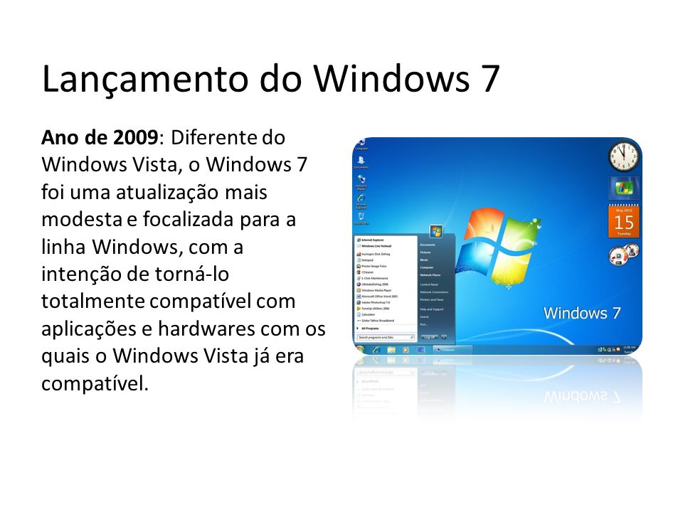 Lançamento do Windows 7