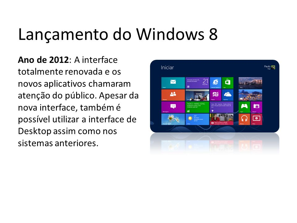 Lançamento do Windows 8