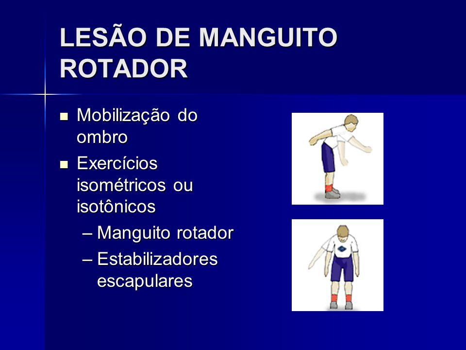 LESÃO DE MANGUITO ROTADOR