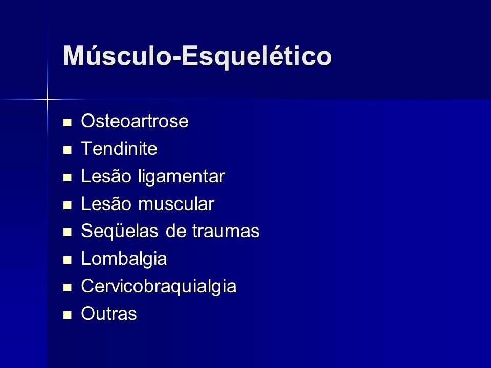 Músculo-Esquelético Osteoartrose Tendinite Lesão ligamentar