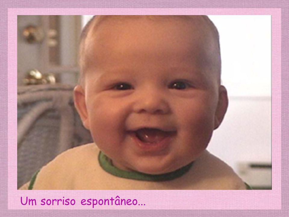 Um sorriso espontâneo...