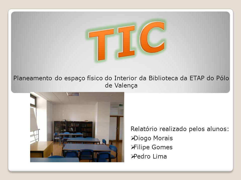 TIC Planeamento do espaço físico do Interior da Biblioteca da ETAP do Pólo de Valença. Relatório realizado pelos alunos: