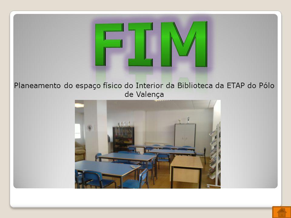 FIM Planeamento do espaço físico do Interior da Biblioteca da ETAP do Pólo de Valença
