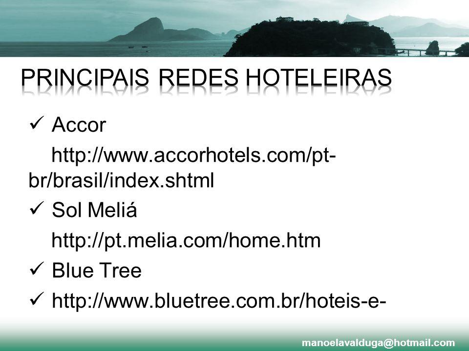 PRINCIPAIS REDES HOTELEIRAS