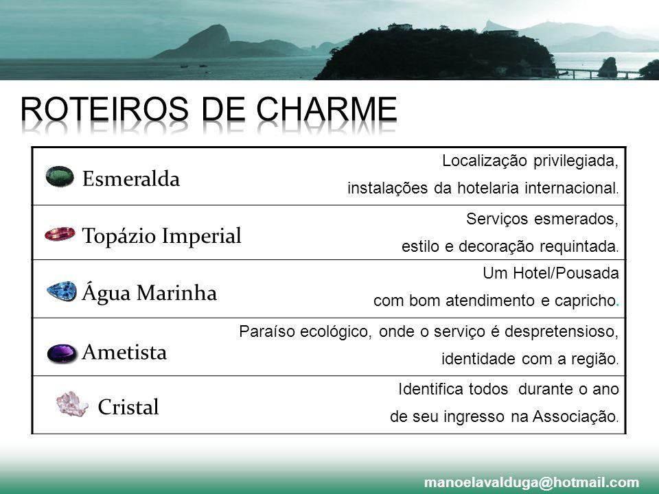 ROTEIROS DE CHARME Esmeralda Topázio Imperial Água Marinha Ametista