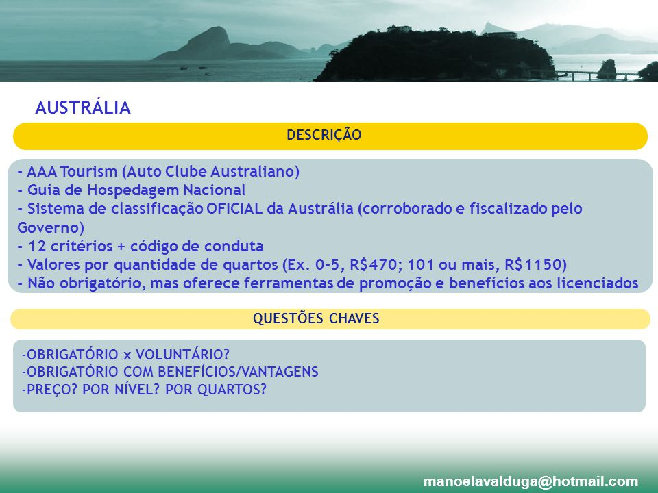 AUSTRÁLIA - AAA Tourism (Auto Clube Australiano)