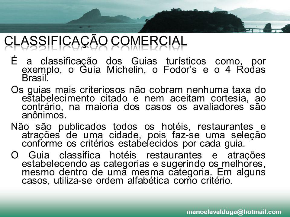 CLASSIFICAÇÃO COMERCIAL