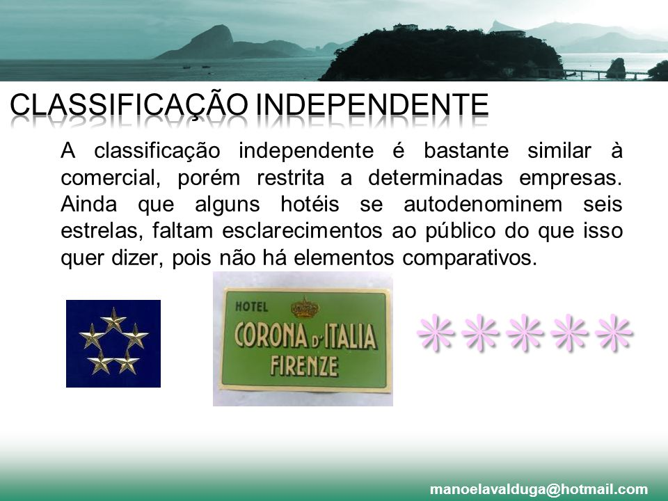 CLASSIFICAÇÃO INDEPENDENTE