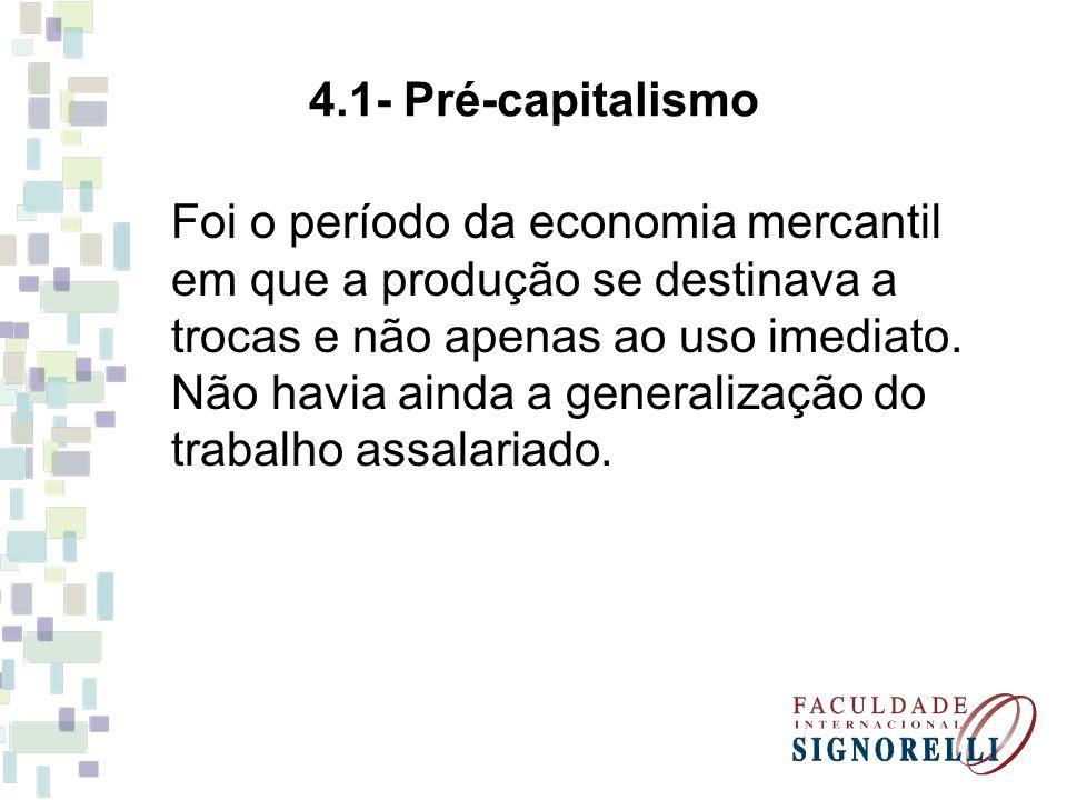 4.1- Pré-capitalismo