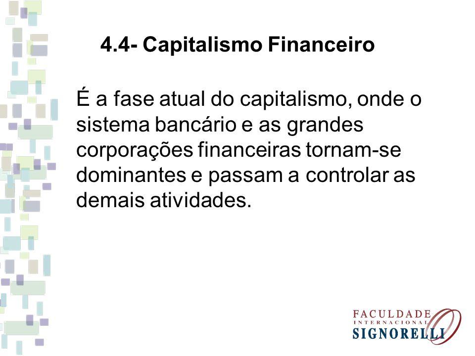4.4- Capitalismo Financeiro
