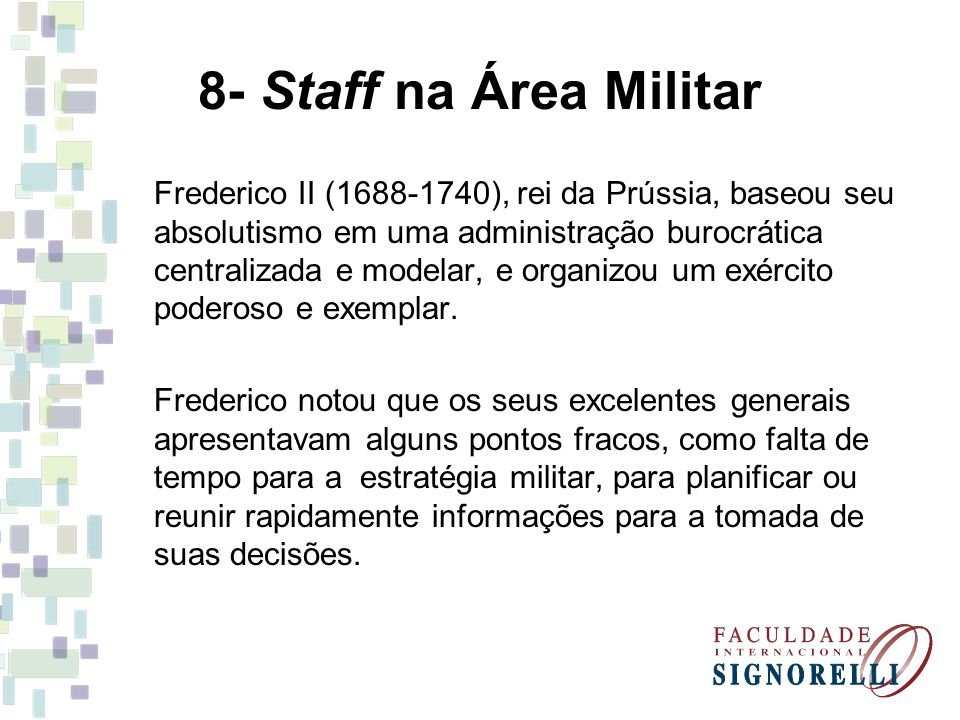 8- Staff na Área Militar