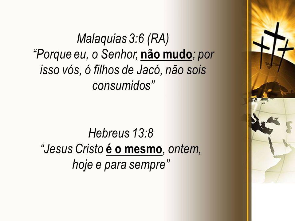 Jesus Cristo é o mesmo, ontem, hoje e para sempre