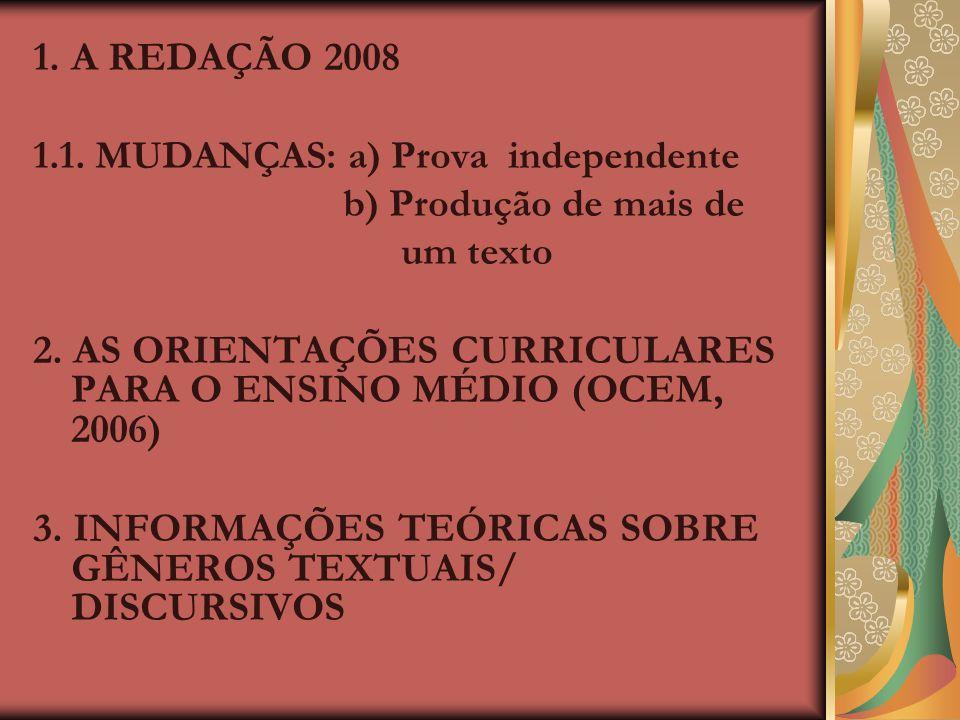 2. AS ORIENTAÇÕES CURRICULARES PARA O ENSINO MÉDIO (OCEM, 2006)