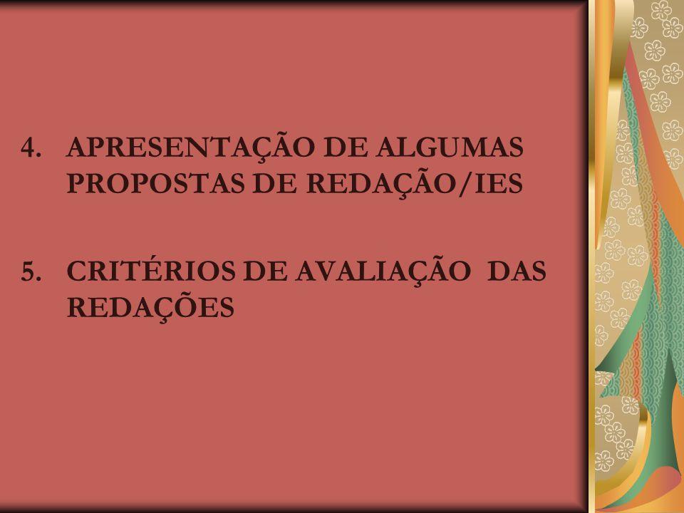 4. APRESENTAÇÃO DE ALGUMAS PROPOSTAS DE REDAÇÃO/IES