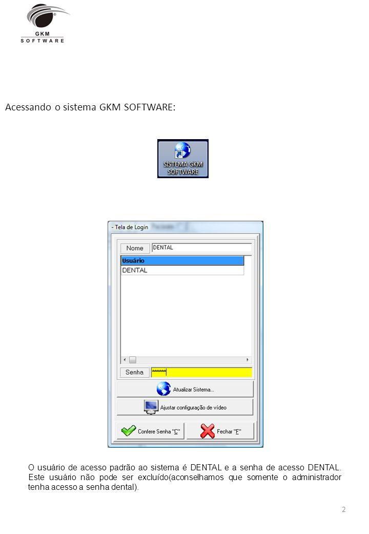 Acessando o sistema GKM SOFTWARE: