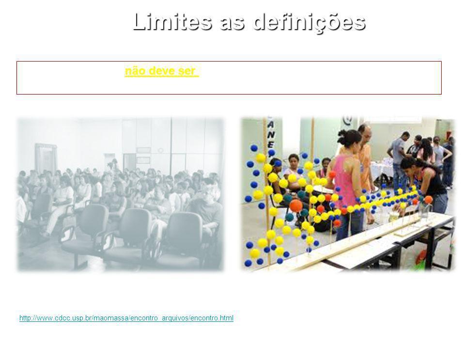 Limites as definições O ambiente físico não deve ser considerado como fator limitante para tais práticas educacionais.