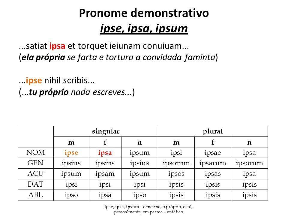Pronome demonstrativo ipse, ipsa, ipsum