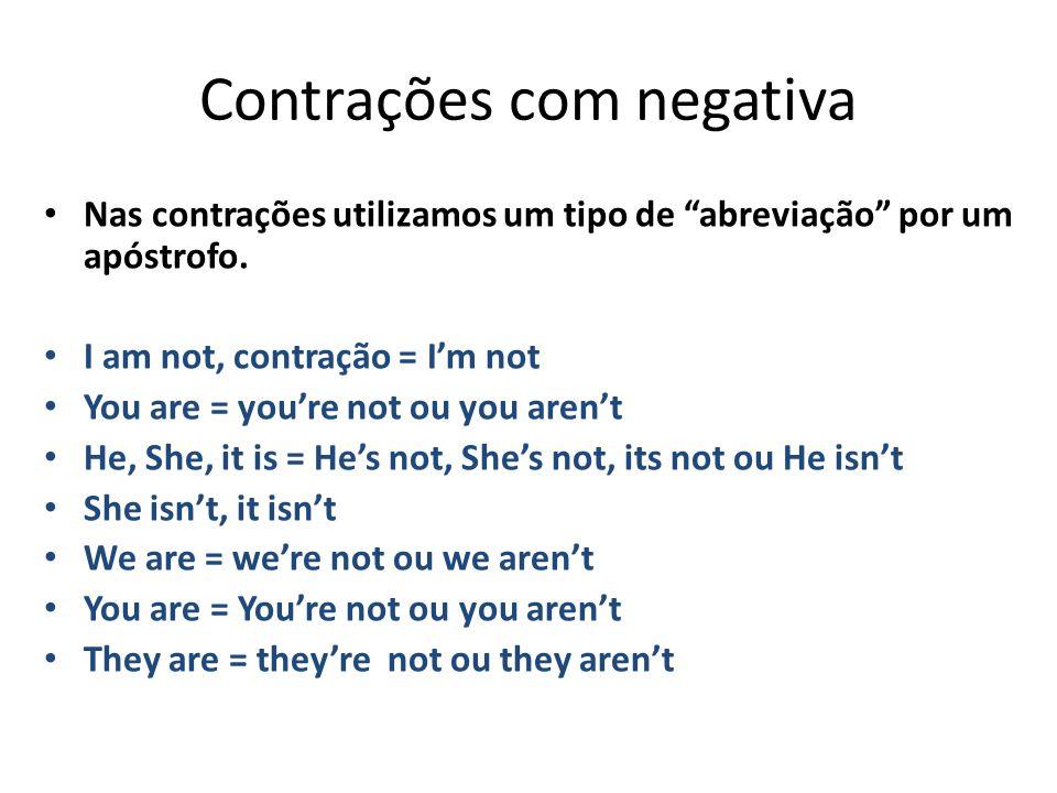 Contrações com negativa