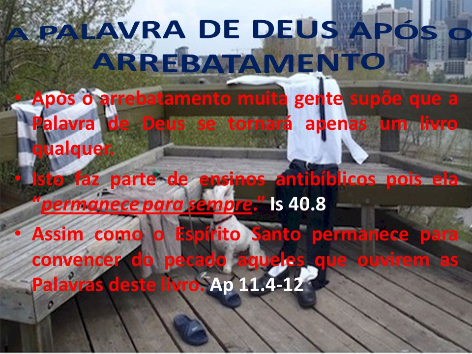 A PALAVRA DE DEUS APÓS O ARREBATAMENTO