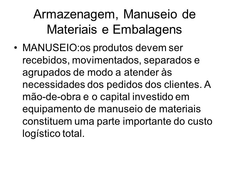 Armazenagem, Manuseio de Materiais e Embalagens