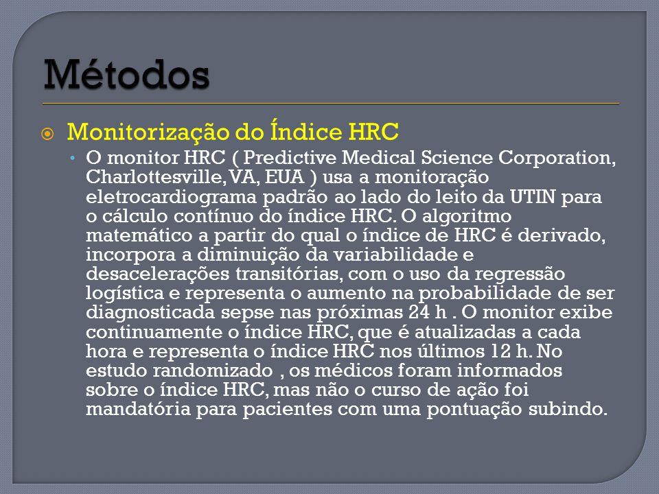 Métodos Monitorização do Índice HRC