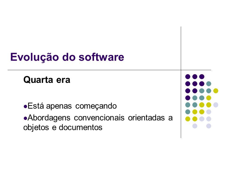 Evolução do software Quarta era Está apenas começando