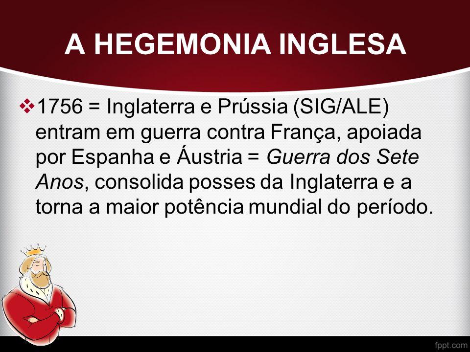 A HEGEMONIA INGLESA