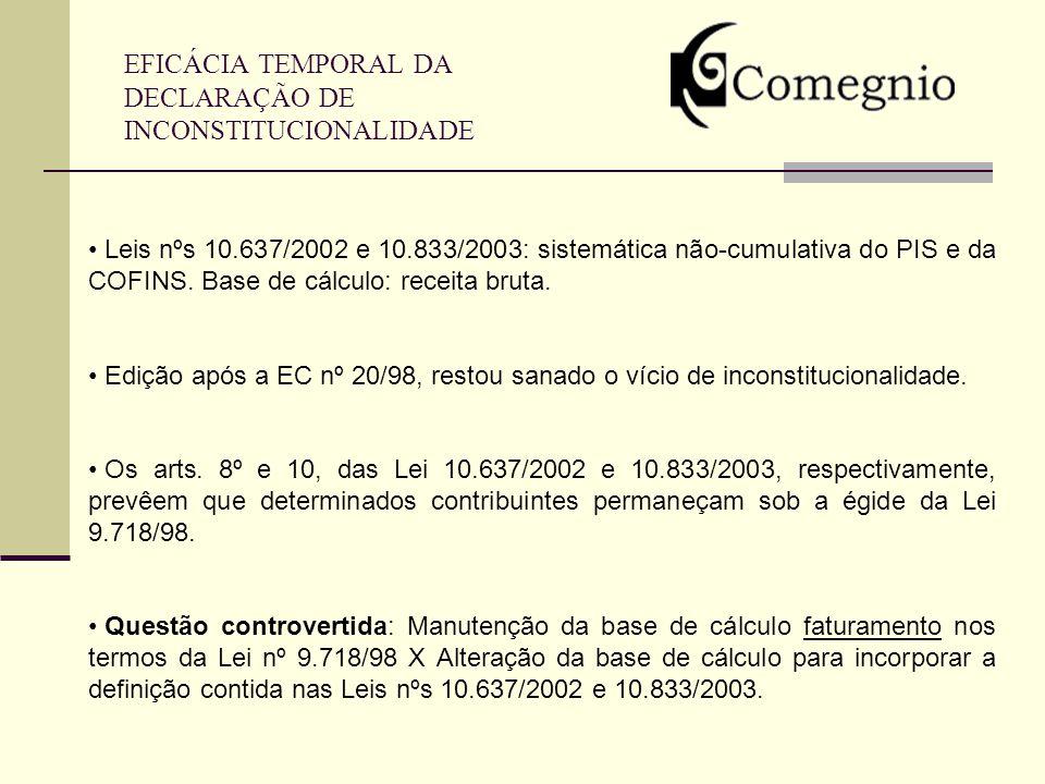 EFICÁCIA TEMPORAL DA DECLARAÇÃO DE INCONSTITUCIONALIDADE
