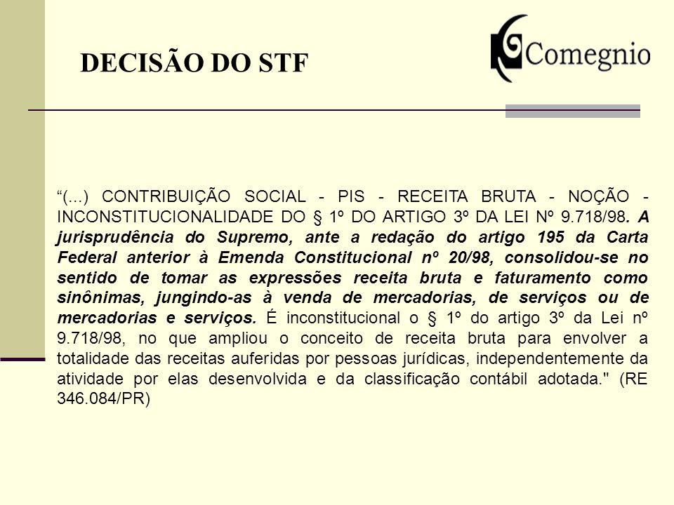 DECISÃO DO STF