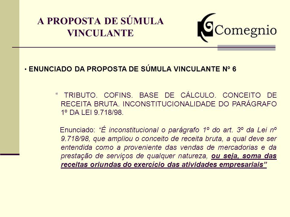 A PROPOSTA DE SÚMULA VINCULANTE