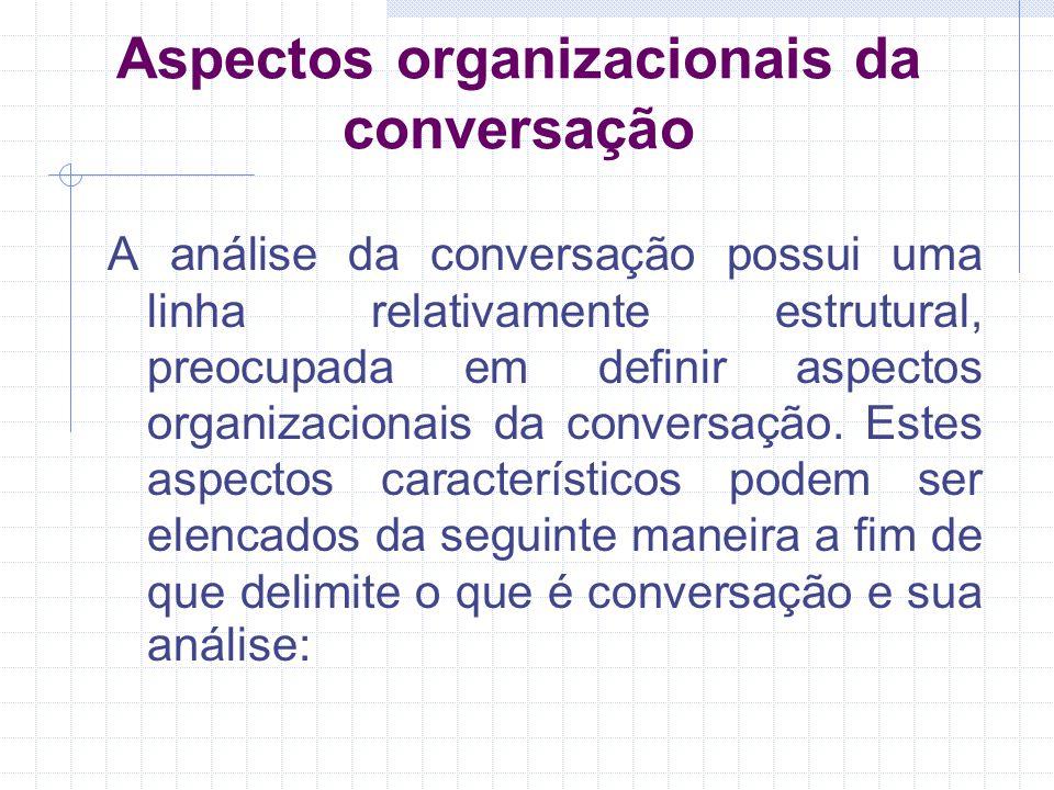 Aspectos organizacionais da conversação
