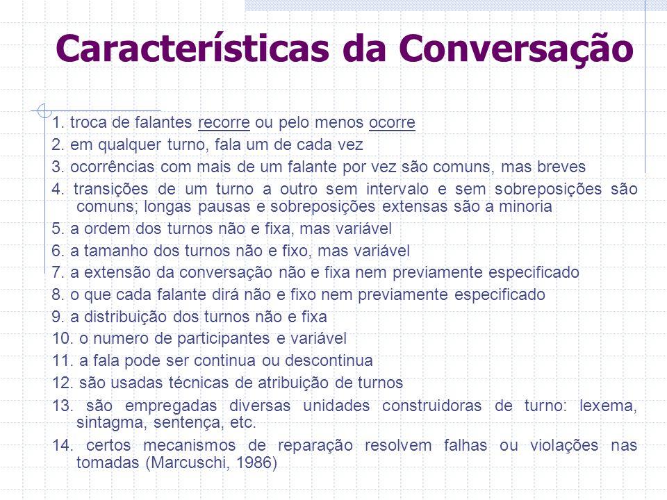 Características da Conversação