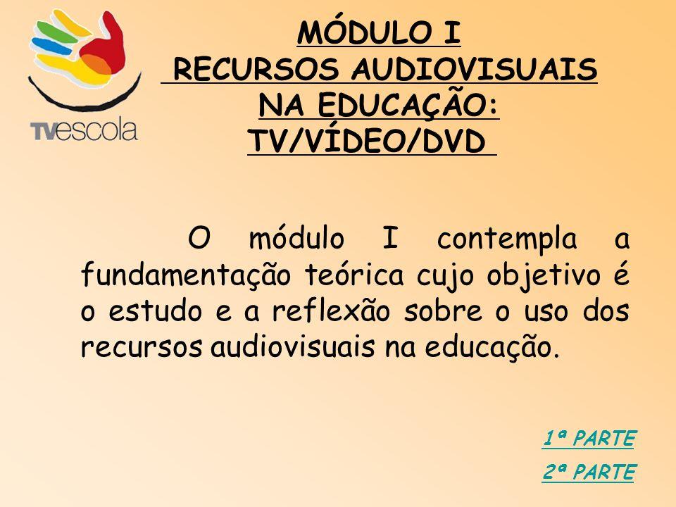 RECURSOS AUDIOVISUAIS NA EDUCAÇÃO: TV/VÍDEO/DVD