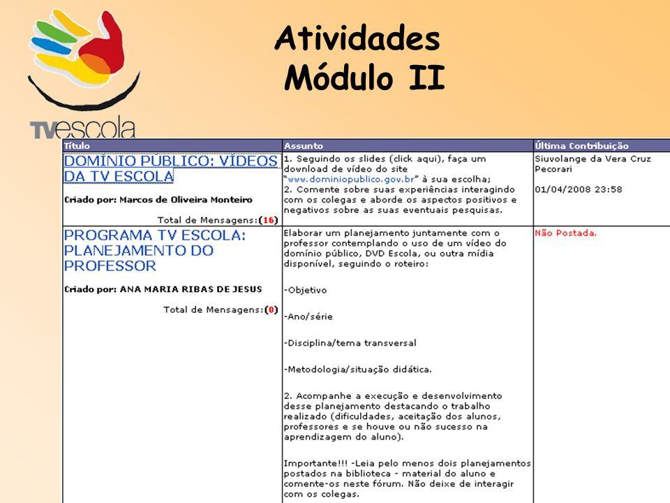 Atividades Módulo II